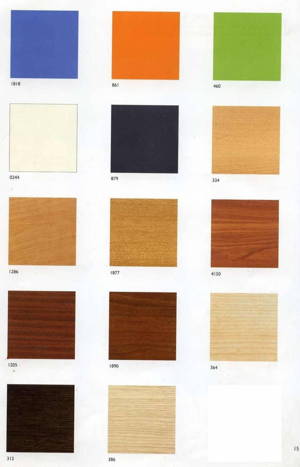 Фото всех цветов ламината для мебели